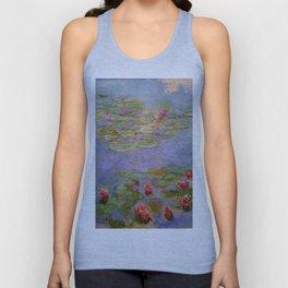 "Claude Monet ""Red Water Lilies"", 1919 Unisex Tank Top"