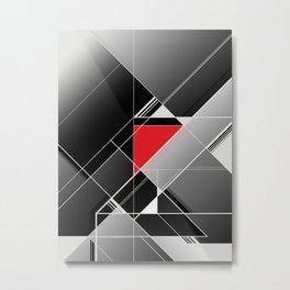 Black & Red Metal Print