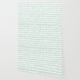 Minty strokes and abstract pastel stripes pattern design Wallpaper