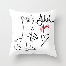 Shiba Mom Throw Pillow