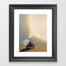 On My Way Framed Art Print