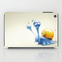 snail iPad Cases featuring snail by Antracit