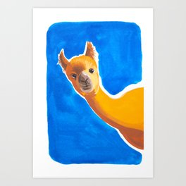 Hello, Alpaca Art Print