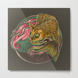 Japanese Fish Metal Print