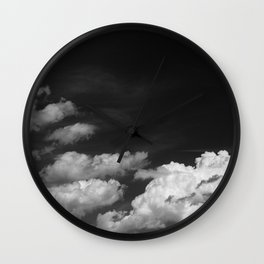 Black sky Wall Clock
