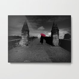 Walking on Old Stirling Bridge Metal Print