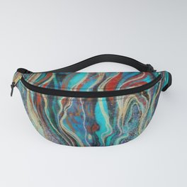 Colorful wavy abstraction Fanny Pack