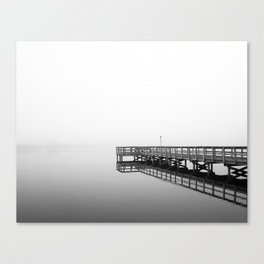 One Foggy Morning - Black and White Canvas Print