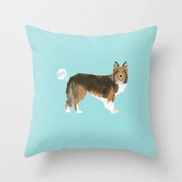 sheltie funny farting dog breed pure breed pet gifts Throw Pillow