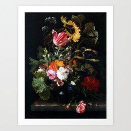 Maria van Oosterwyck Bouquet of Flowers in a Vase Art Print