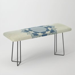 Lotus Mandala Light Blue Center Sand Water Wash Bench
