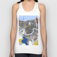 new orleans Tank Tops featuring New Orleans by Mondrian Maps