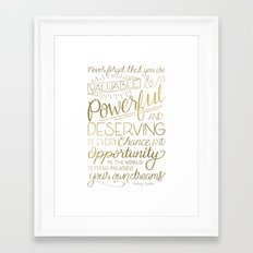 Pursue Your Dreams - Gold Framed Art Print