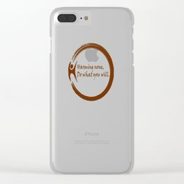 Harming None,Do What You Wil Clear iPhone Case