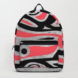 Maori tribal fish illustration Backpack