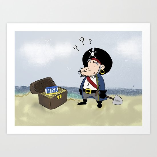 Where is my gold? Art Print