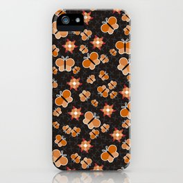 Crisscross Butterflies V.02 - Soot Brown Color iPhone Case