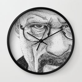 Heisenberg Pointillism/Stippling  Portrait Wall Clock
