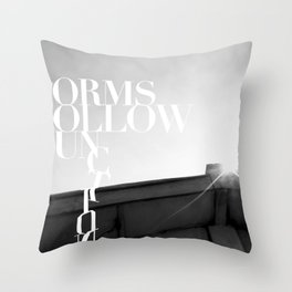 from follow fun Throw Pillow