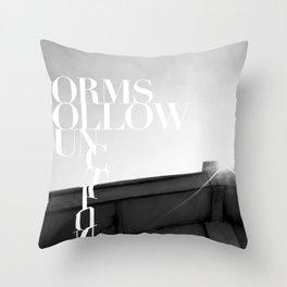 from follow fun Throw Pillow