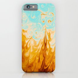 Vivid colors marble abstract pattern digital illustration  iPhone Case