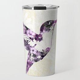 Purple Hummingbird Art Travel Mug