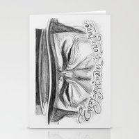 clint eastwood Stationery Cards featuring Clint Eastwood by Robin Ewers