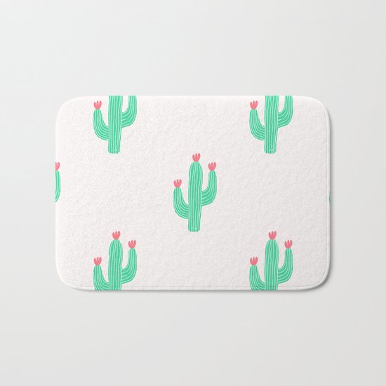 Cactus bloom Bath Mat