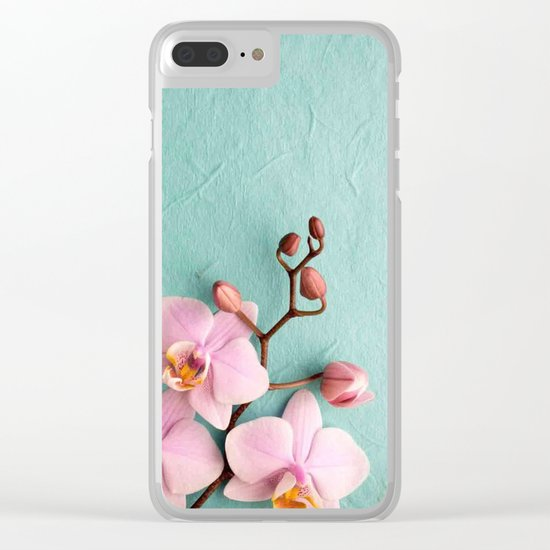 Orchids1 Clear iPhone Case