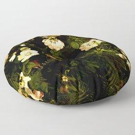 Floral Night III Floor Pillow