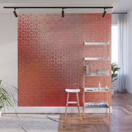 Trinity Pattern (sunset orange) Wall Mural