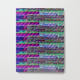 whitecalx glitch violet Metal Print