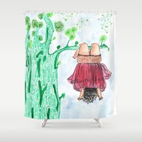 let it go Shower Curtains featuring LET GO! by Pritika Mathur