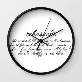 sehnsucht Wall Clock
