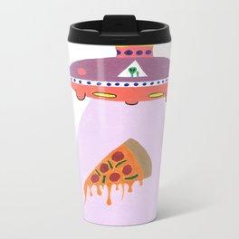 Pizza Alien Metal Travel Mug
