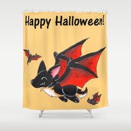 Corgipire Bat (With Text) Shower Curtain
