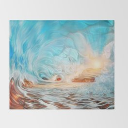 The evening wave Throw Blanket
