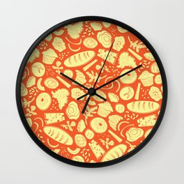 Bread and Breakfast Wall Clock