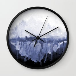 Paint 5 abstract water ocean arctic iceberg nature ocean sea abstract art drip waterfall minimal  Wall Clock
