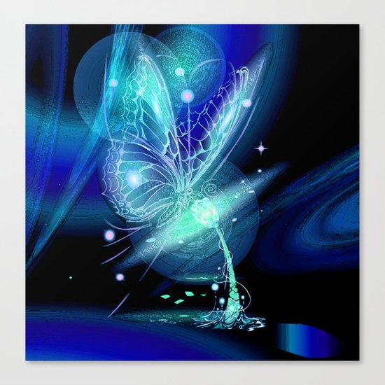 Galactic Butterfly Canvas Print