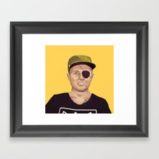 The Israeli Hipster leaders - Moshe Dayan Framed Art Print