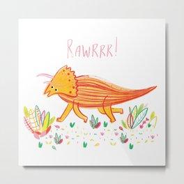 Colourful Dinosaur Metal Print