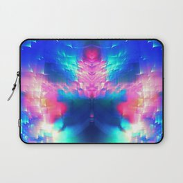 blue butterfly light vaporwave aesthetic abstract art print Laptop Sleeve