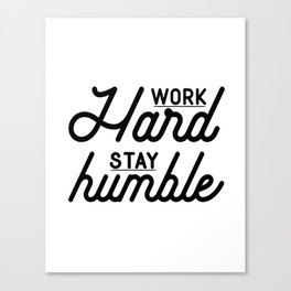 OFFICE WALL ART, Work Hard Stay Humble,Play Hard,Motivational Poster,Be Kind,Home Office Desk,Printa Canvas Print