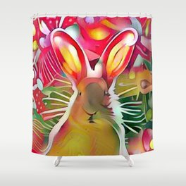 Stalker Rabbit Shower Curtain