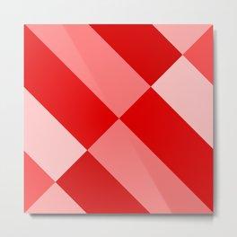 Angled Red Gradient Metal Print
