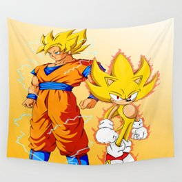 Super Sonic Warriors Z Wall Tapestry