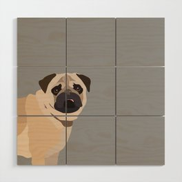 Pug Wood Wall Art