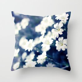 Flowers On A Cool Brooklyn Morning Throw Pillow