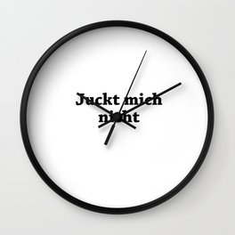 Doesnt care me Wall Clock